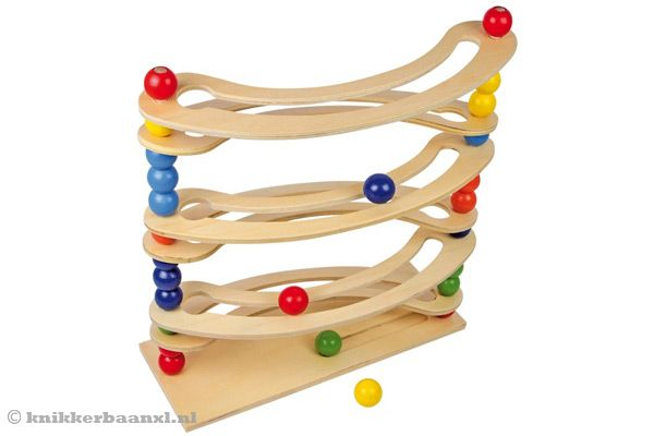 Woodtoys - Flexibele marble run